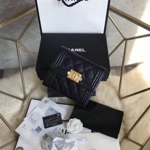 CHANEL AUTHENTIC small trifold wallet